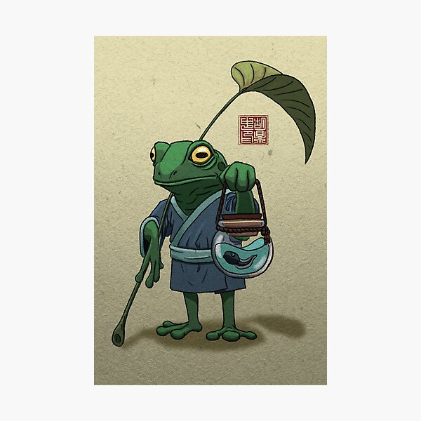 A Frog and His Son Photographic Print