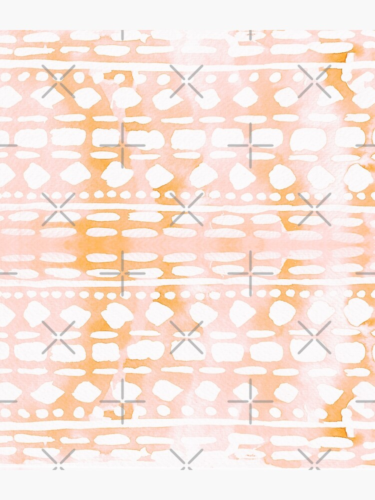 Abstract peach & pink pattern by ebozzastudio