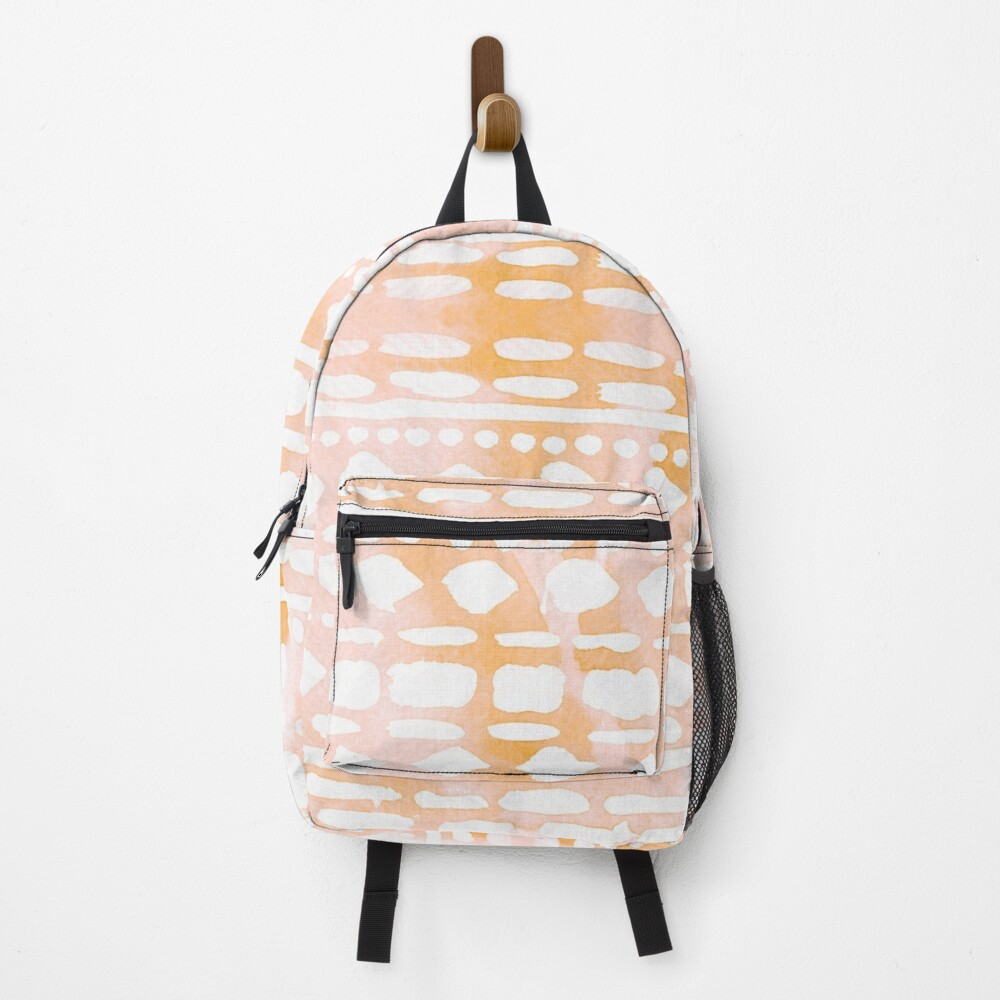 Abstract peach & pink pattern Backpack