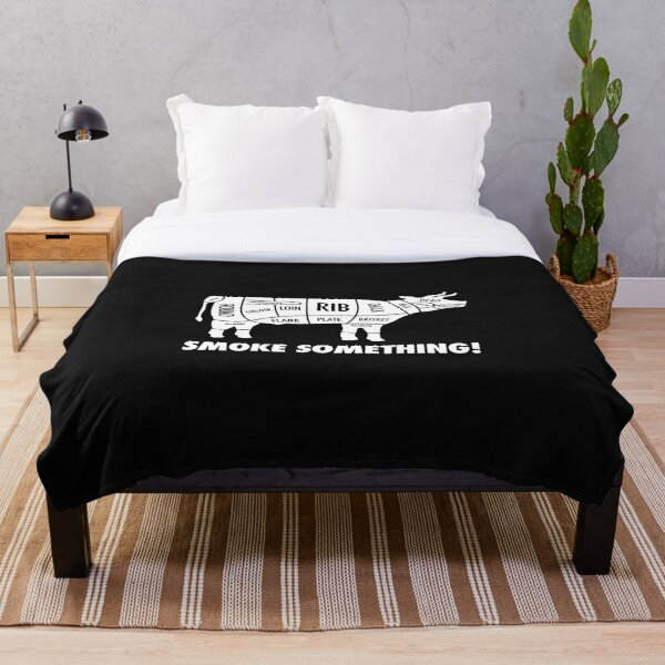 Meat Smokers Bwht Throw Blanket