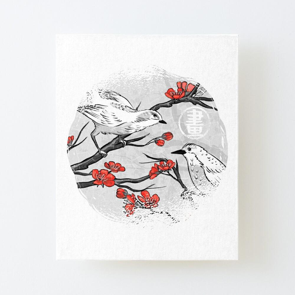 Hanami Birds Art Board Print By Kempo 24 Redbubble