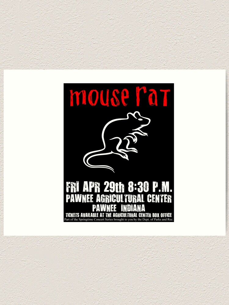 Parks and Recreation Print Mouse Rat poster Art