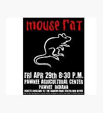 Mouse Rat Concert Poster Photographic Print