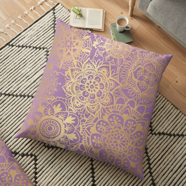 Gold Mandala Pillows Cushions Redbubble