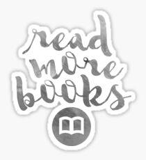 READ MORE BOOKS (SILVER) Sticker