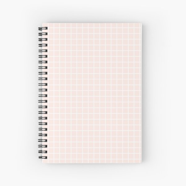 light pink grid Spiral Notebook