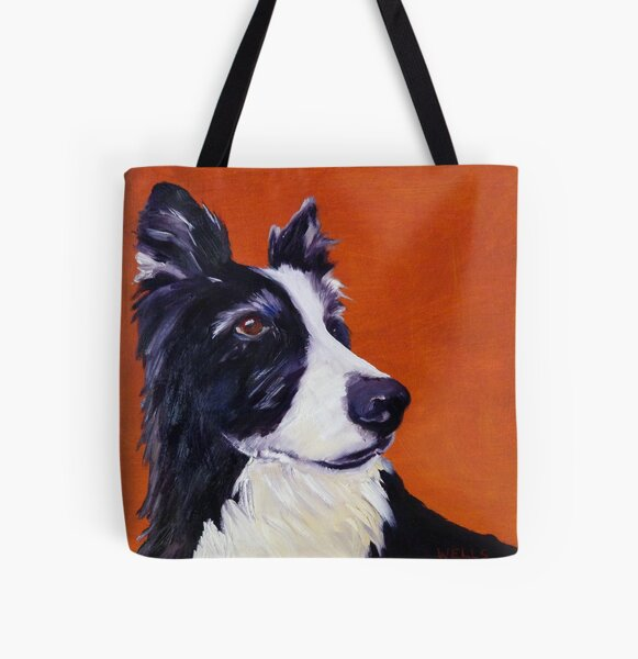 Border Collie Focus! All Over Print Tote Bag