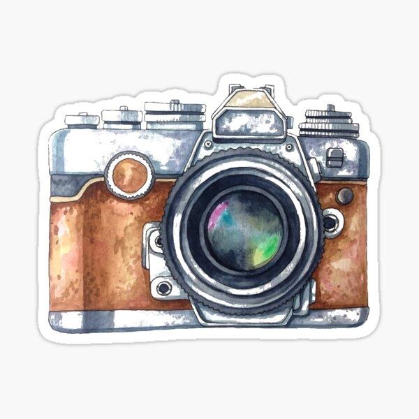 Watercolor Camera Sticker