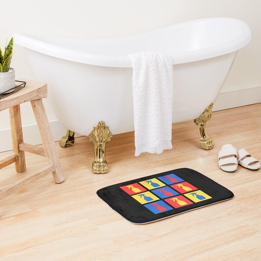 Andy SprayAll Creative Artistic Cleaning Humor Bath Mat