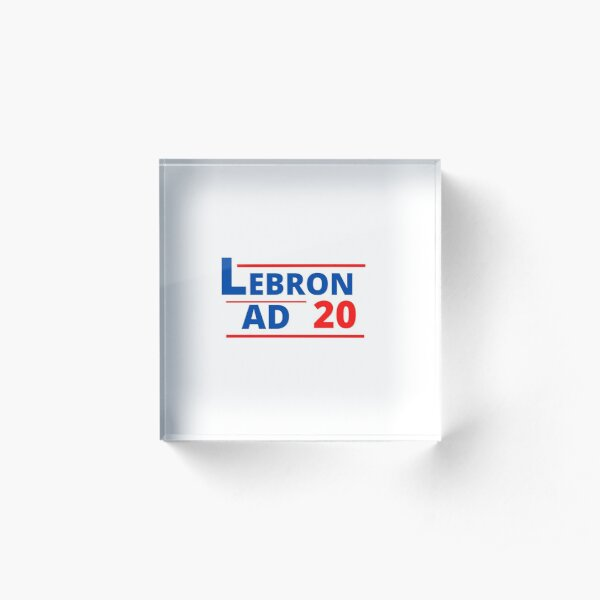 Lebron & AD 2020 Acrylic Block