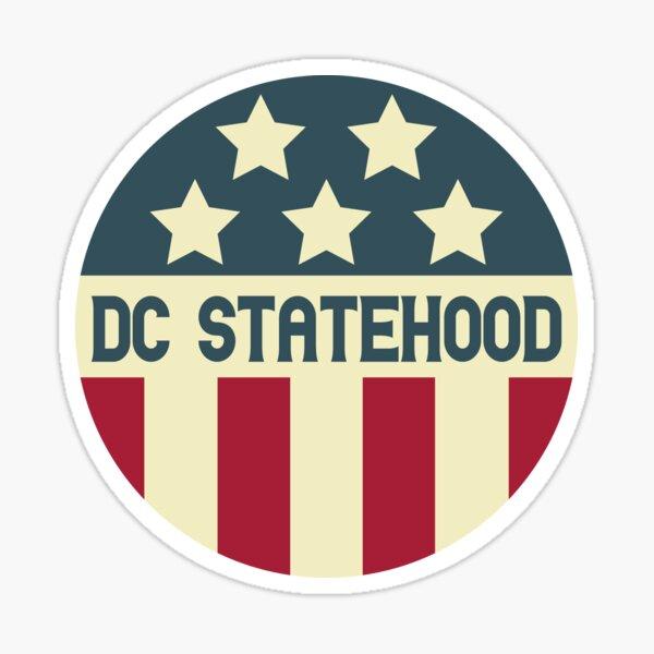 Vintage Statehood for Washington DC Sticker