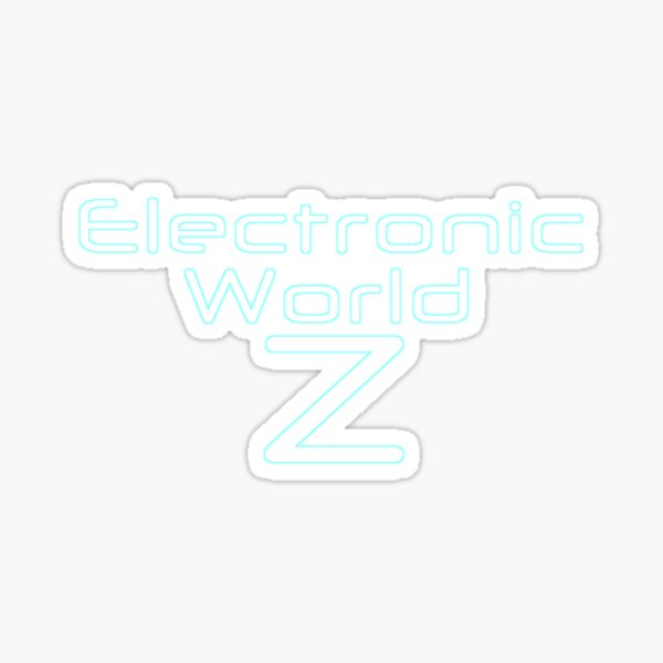 Electronic World Z Game Title Sticker