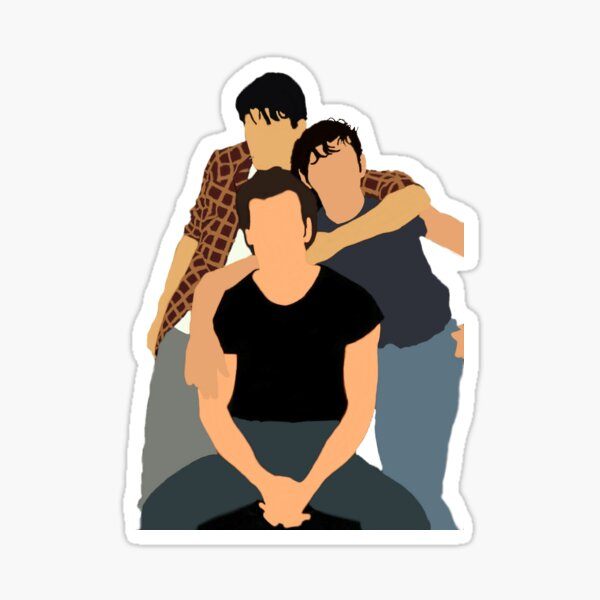 The Curtis Brothers Simple, Ponyboy, Sodapop, and Darry (The Outsiders) Sticker