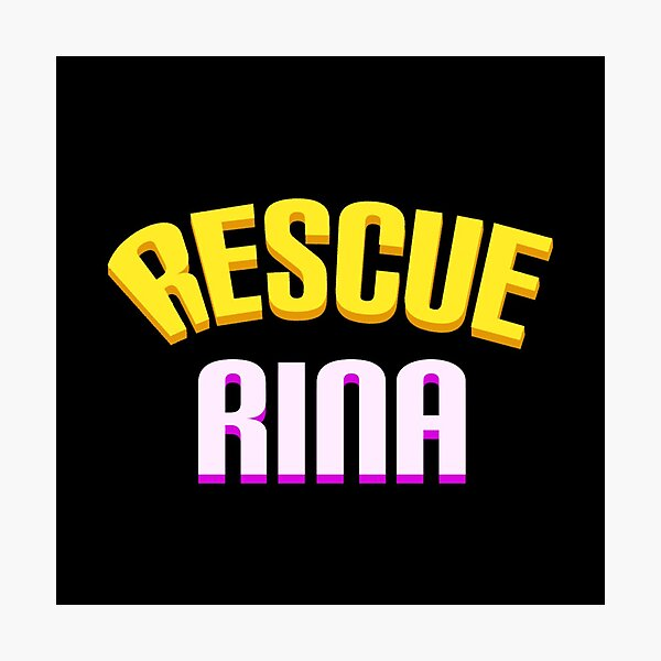 Rescue Rina Game Logo Photographic Print