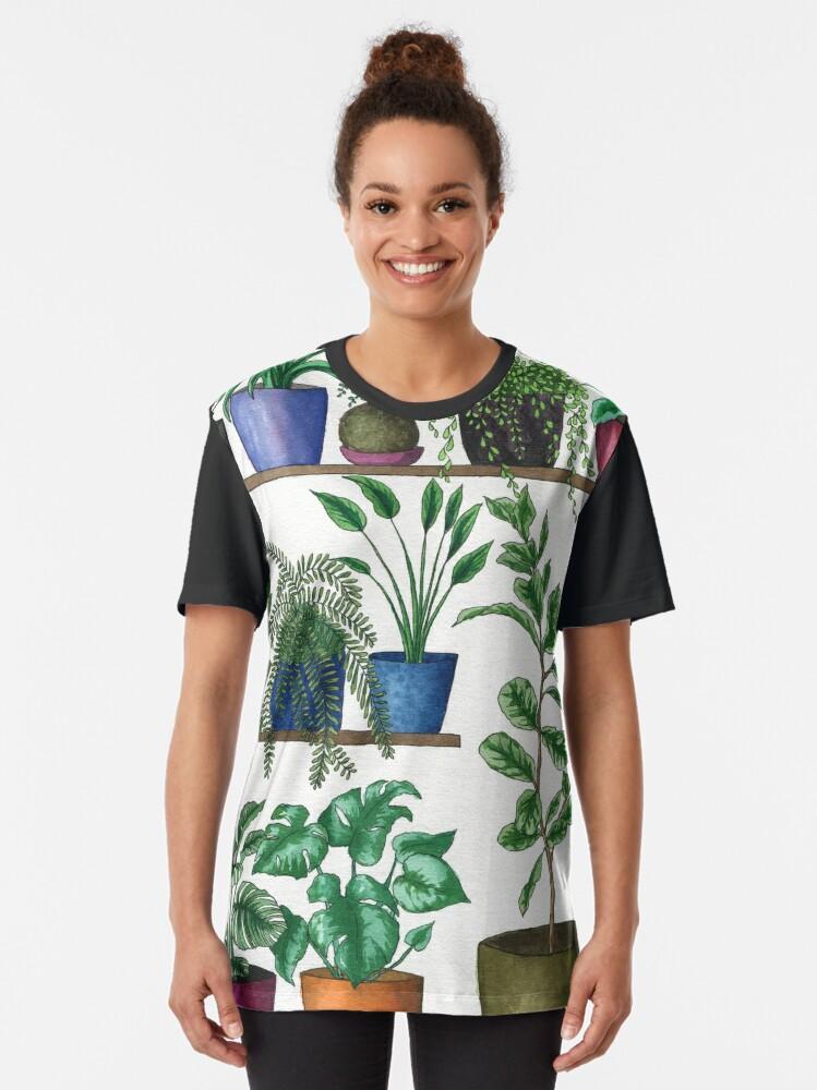 Alternate view of Dream Plant Selfie 1 - Fiddle Leaf  Graphic T-Shirt