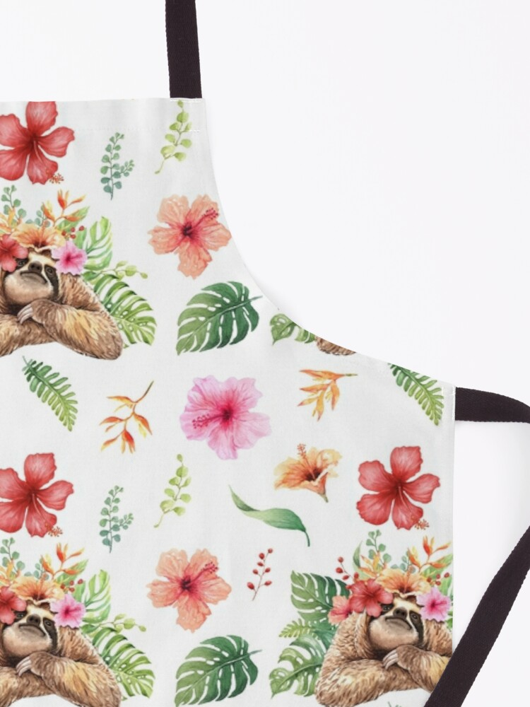 Alternate view of Sloth With Flower Crown. Apron