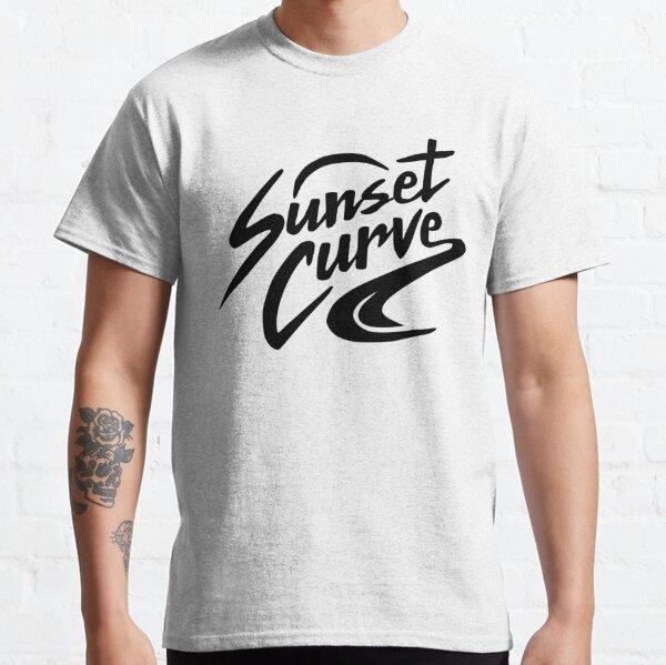 Logo de la courbe du coucher du soleil T-shirt classique