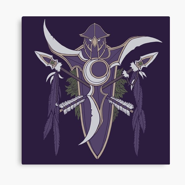 Kaldorei Crest Canvas Print