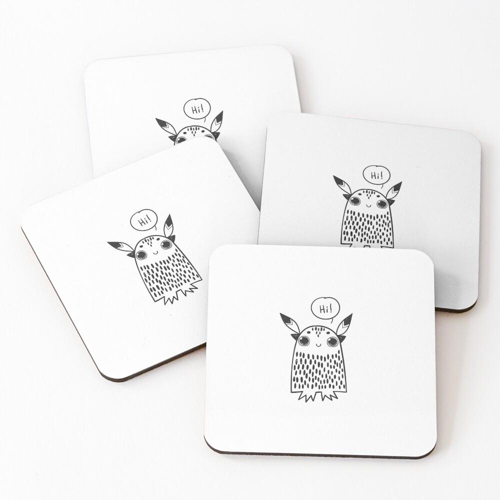 Owl Hi Love Coasters (Set of 4)