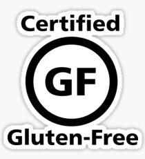 Certified Gluten Free Sticker