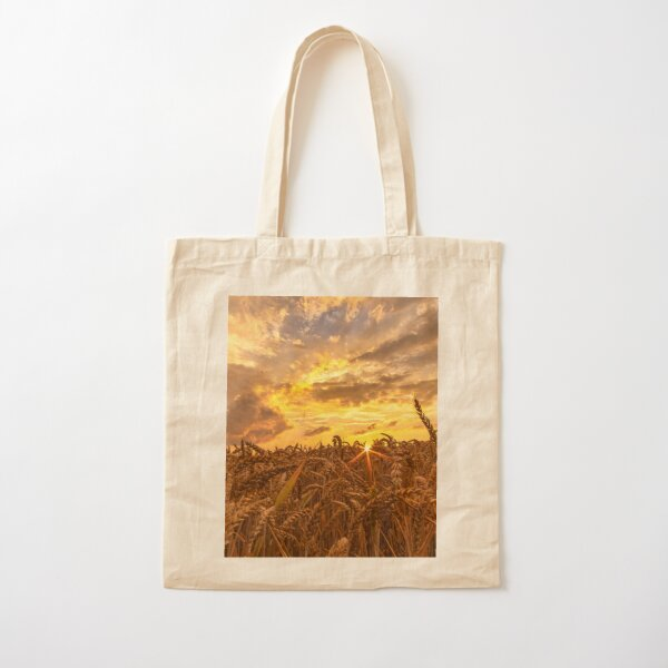 Wheat field in the evening Cotton Tote Bag