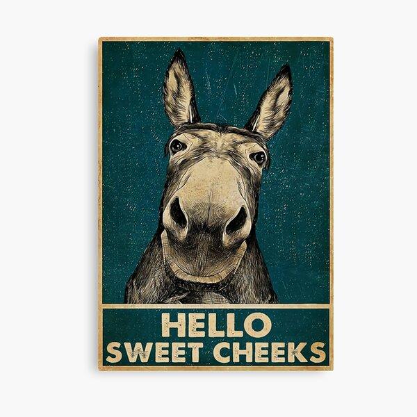 Donkey Hello Sweet Cheeks Canvas Print