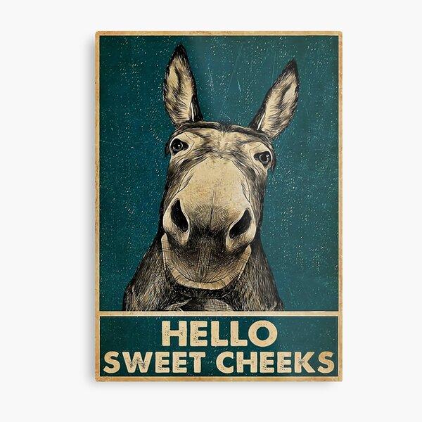 Donkey Hello Sweet Cheeks Metal Print