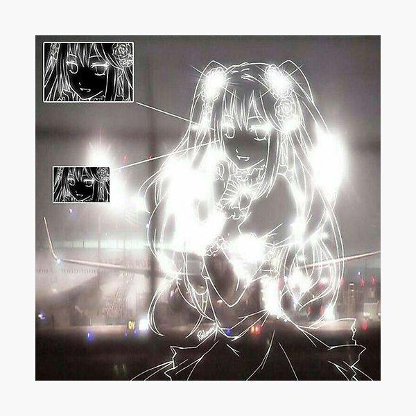 goth anime aesthetic Photographic Print