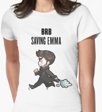BRB -- saving emma Womens Fitted T-Shirt
