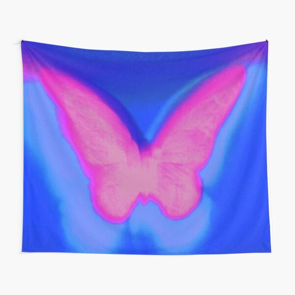 y2k butterfly pink Tapestry