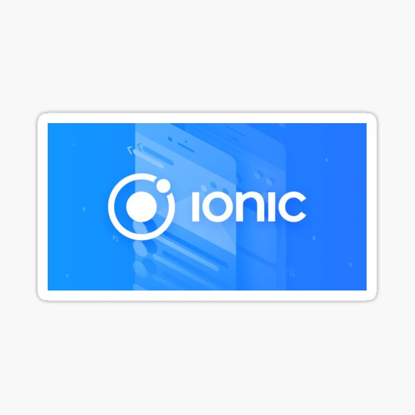 Ionic framework sticker with a beautiful background of a mobile application Sticker
