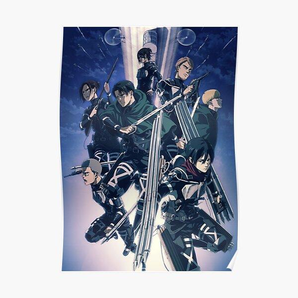 Angriff auf Titan | Shingeki no Kyojin | Staffel 4 Poster | Anime Leichtes Sweatshirt Poster
