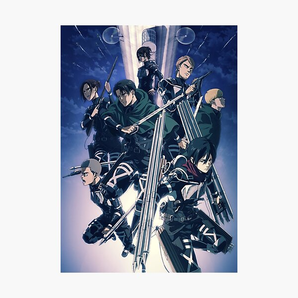 Attack On Titan | Shingeki no Kyojin | Season 4 Poster | Anime Lightweight Sweatshirt Photographic Print