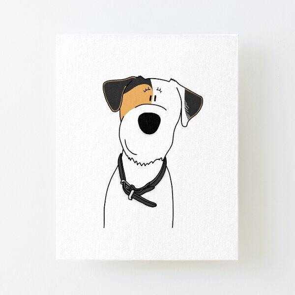 Parson Russell Terrier Hündin Aufgezogener Druck auf Leinwandkarton