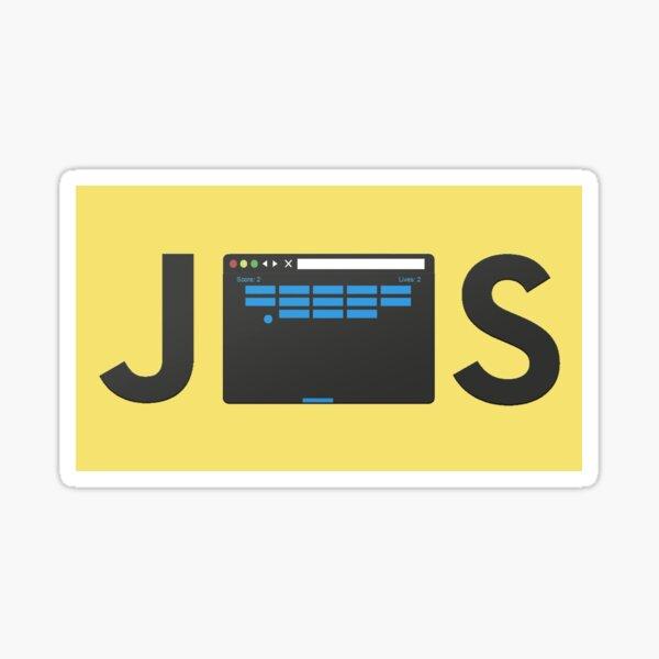 Lovely yellow javascript sticker Sticker