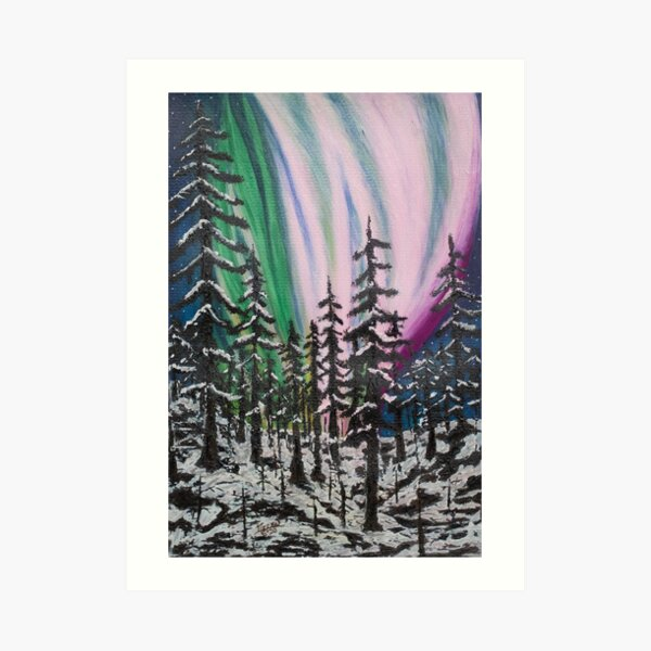 The Northern Lights - A Painting Art Print