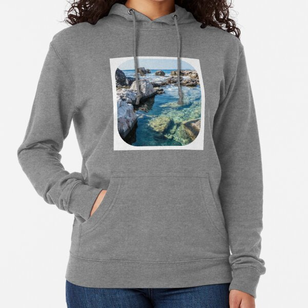 ROCKY OCEAN SHORELINE ROCK POOL; STICKERS, T-SHIRTS, MUGS and MORE! Lightweight Hoodie