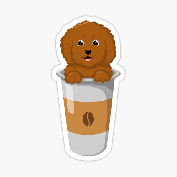 Puppy in cup Sticker