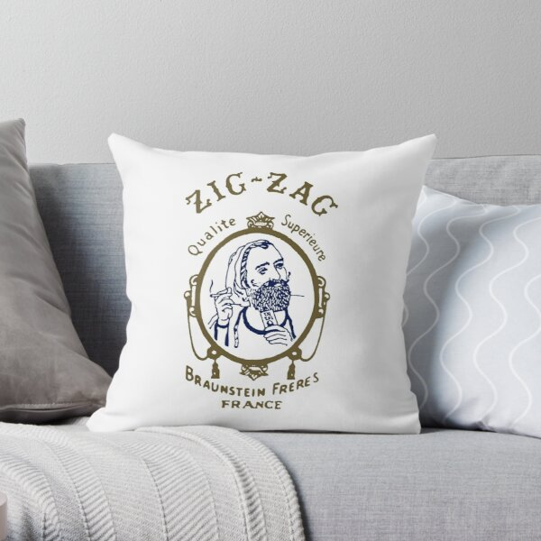 Zig Zag Cigarette Rolling Papers Throw Pillow