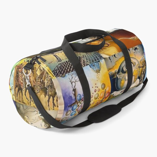 Salvador Dali All Paintings Collage Duffle Bag