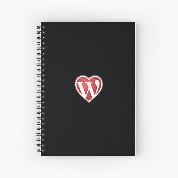 Black Notebooks of Love Wordpress in Red Spiral Notebook
