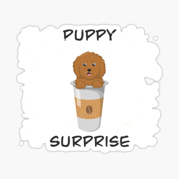 Puppy Surprise Sticker