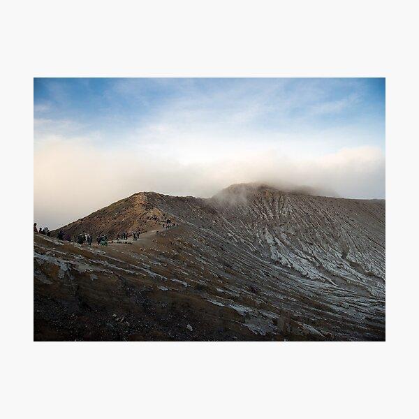 Volcanic Crater Ridge in Indonesia Photographic Print