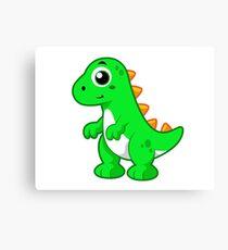 Cute illustration of Tyrannosaurus Rex. Canvas Print