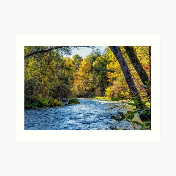 Autumn Along Current River Art Print