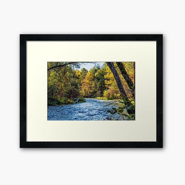 Autumn Along Current River Framed Art Print