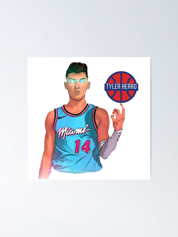 Tyler Herro Miami Heat Vice American Professional Basketball Player Poster By Dmtechnolab Redbubble