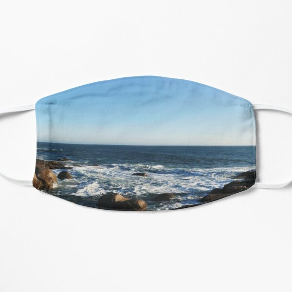 OCEAN SHORELINE OUTLOOK ROCKS AND SURF; STICKERS, T-SHIRTS, MUGS and MORE! Mask