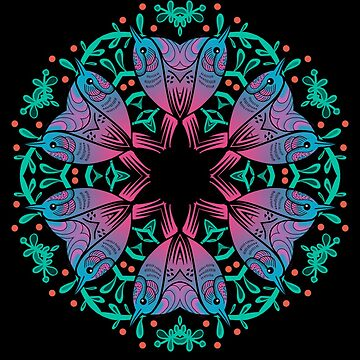 Birds and Berries Mandala by HelenAldous
