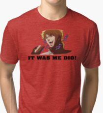 JoJo's Bizarre Adventure: IT WAS ME DIO! (With Icons) Tri-blend T-Shirt